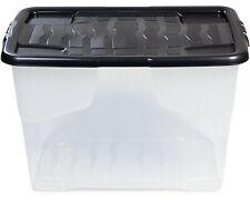 Aufbewahrungsbox mit Deckel 65 L Curve Box Kunststoffbox transparent Lagerbox