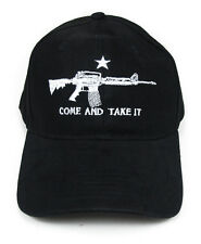 """Come and Take It"" Assault Rifle Emblem Black Twill Cap Baseball Hat"