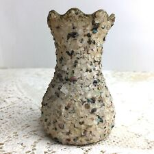 Vintage 60s Pebble Art Vase Crushed Rock Gravel Knotts Berry Farm Souvenir Gift
