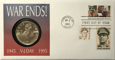 1995 Honolulu War Ends VJ Day Coin Cover with Marshall Islands $5 Coin