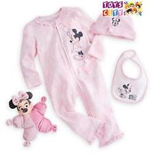 Authentic Disney Minnie Mouse Baby Gift Set Plush Toy Hat Romper
