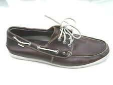 ff3e45b3a7a Nautica brown leather boat shoes Mens slip on deck loafers shoes sz 13D  NM109T