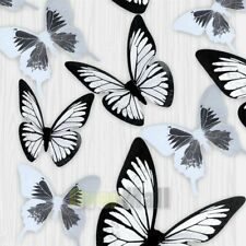 54pcs Wall Stickers Lot PVC 3D Crystal Butterfly Art Decal Mural DIY Home Decor
