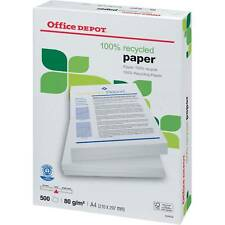Office Depot 100% reciclado blanco A4 Copiador papel (80gsm) - 2500 HOJAS (5