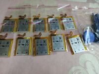 10pcs 3.7V Li-ion Battery Replacement 220mAh for iPod Nano 7 7th Gen + Tools