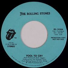 """THE ROLLING STONES: Fool to Cry USA Orig '76 DJ PROMO 7"""" 45 NM-"""