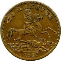 1837 To Hanover Great Britain Game Counter Token Jeton Magician Coin