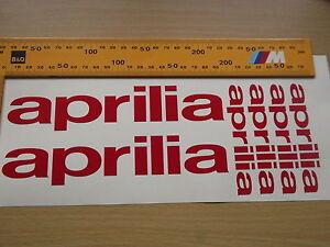 APRILIA WHEEL STICKERS  Motorcycle/Motorcross Vinyl Sticker Decals X6