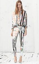 BALMAIN Miami Print Silk Oversize Tunic Blouse Shirt Top 8  10  12