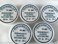 A1 Kanthal Resistance Wire Big 5 25m of each Gauge 24,26,28,30,32  .20mm to.51mm