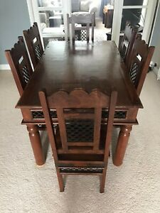 Sheesham Jali Dining Table and 6 Chairs