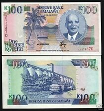 MALAWI 100 KWACHA P29A 1993 BANDA BOAT ROOSTER UNC RARE CURRENCY MONEY BILL NOTE