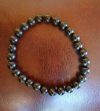 "8MM Nuummite Stone 8"" Bracelet Natural Crystal Healing,  USA01"
