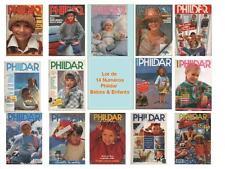 Lot 14 Catalogues Phildar Bébés & Enfants - Mailles Créations /3 Adultes Offerts