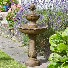 Solar Power Outdoor Kingsbury Cascade Water Fountain Feature | Bird Bath