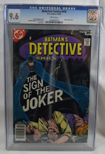 Detective Comics (1978) #476 CGC 9.6 white pages - Batman Sign of the Joker!