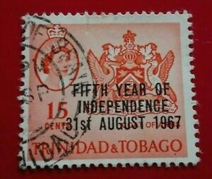 Trinidad & Tobago:1967 The 5th Anniversary of Indepen. Rare & Collectible Stamp.