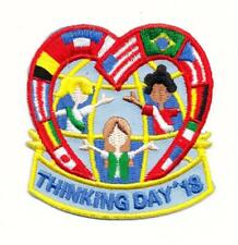Girl THINKING DAY 2018 Fun Patches Crests Badges SCOUT GUIDE World International