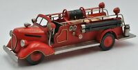 1938 FORD GEORGETOWN Fire truck 1/24 14 in. long Firetruck Hand Made Office Home