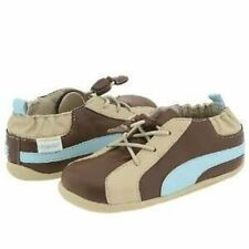 NIP ROBEEZ Shoes Tredz Evan 3 Lace Brown Blue 12-16m 4 5