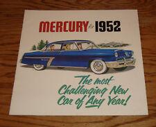 Original 1952 Mercury Full Line Deluxe Sales Brochure 52 Monterey Special