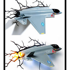 3D FX Deco LED Night Light Aircraft Jet Plane Model Wall Room Home Decoration