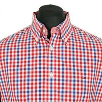 Vintage TOMMY HILFIGER Button Down Gingham Shirt | Retro Casual Plaid Check