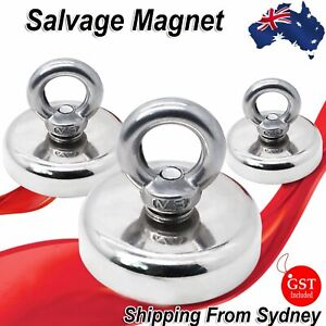 Magnet 22.5Kg Salvage Recovery Neodymium Strong Hook Fishing Treasure Hunting AU