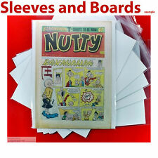 More details for nutty comic uk comic bags / sleeves acid free reseal / tape seal a4 size4 x 25 .