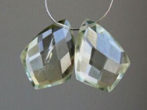 48 carats  5 pieces Sale Natural Green Amethyst Faceted Teardrop 14X10 mm AAA
