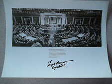 Frank Borman Autographed 8X10 Photo Speaking to Congress