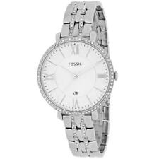 **NEW** LADIES FOSSIL JACQUELINE CRYSTAL SILVER  WATCH - ES3545 - RRP £119