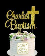 182. Baptism Cake Topper, Cake Decoration, Premium, Glitter