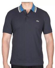 NWT Men's Lacoste S/S Pique Polo Shirt Regular Fit PH2074-51 HXH Blue Medium $98