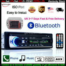 Car Stereo 12V FM In Dash Radio 1 DIN SD/USB AUX Bluetooth Handsfree Head Unit