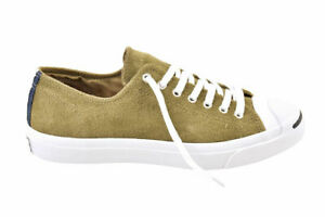 Converse Unisex Jack Purcell Signature Shoes Suede Green Size UK 10