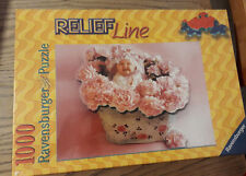 PUZZLE RAVENSBURGER RELIEF LINE BABY IN PINK BAMBINO ROSE 1000 PEZZI 70x50 cm