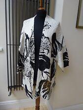 Desigual Oversized Black & Off-White Mykonos Cardigan UK 10-18 one size New