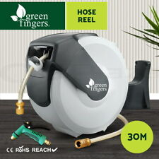 Greenfingers Hose Reel Water 30M Retractable Garden Brass Spray Gun Auto Rewind