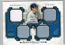 DREW STUBBS 2014 TOPPS MUSEUM COLLECTION 4 PIECE JERSEY # 30/99 INDIANS