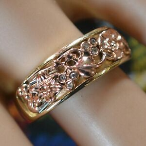9 ct GOLD second hand Welsh diamond cluster ring