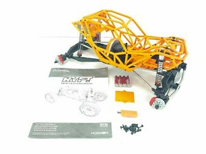 NEW: AXIAL RBX10 Ryft 4WD 1/10 Rock Bouncer Roller Slider Chassis w/ Orange Cage