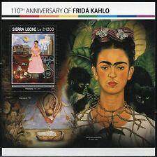 SIERRA LEONE 2017 110th BIRTH ANNIVERSARY OF FRIDA KAHLO SOUVENIR SHEET MINT NH