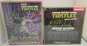 Lot of 2 TEENAGE MUTANT NINJA TURTLES Games ~Showdown~Mouser Mayhem! ~SEALED~