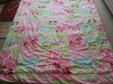 Circo pretty pink ponies barn flowers full double size comforter reversible