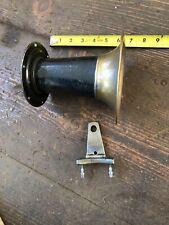 Studebaker Antique Hupmobile Brass Ford T Klaxon Ahoogah Horn Bell Mount Patina
