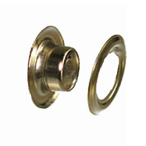 #00 Solid Brass and Brass Plated with Washer Leather Craft 100 Packs