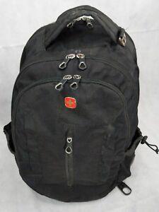 "Swiss Gear 15"" Laptop Backpack TRAVEL SCHOOL BAG BLACK CHECKPOINT WENGER Black"