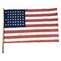 Vintage 45 Star Parade Flag on stick - Rare Star Pattern