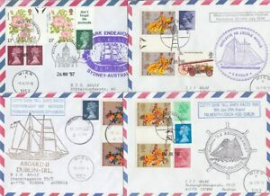 Schiffspost 20 Documents United Kingdom Gutter Pairs